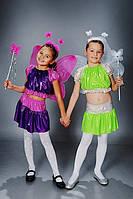Детский маскарадный костюм для девочки « Фея » сиреневый с малиновым