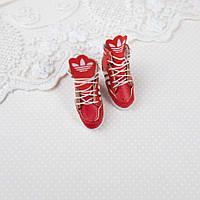 """Обувь для кукол Кожаные Кроссовки """"Adidas""""  30*14 мм КРАСНЫЕ, фото 1"""
