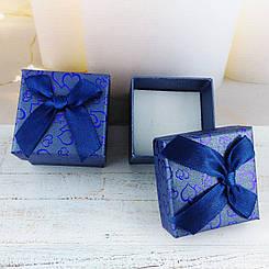 Подарочная коробочка Сердца Синяя