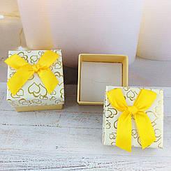 Подарочная коробочка Сердца Нежно желтая