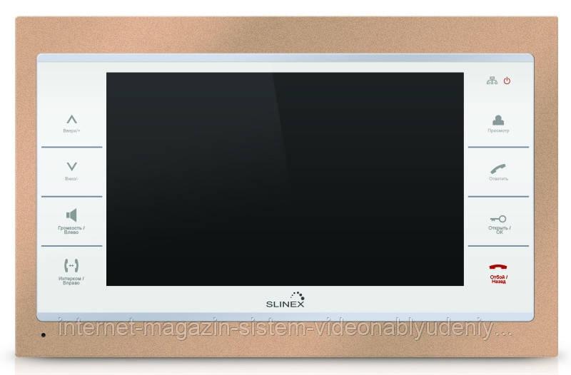 Цветной IP-видеодомофон  Slinex SL-10 IP  Золотисто-белый