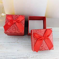 Подарочная коробочка Сердца Красная