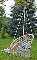 Гамак кресло FOTEL SASKA GARDEN 80x60CM з подушкою ECRU, фото 1
