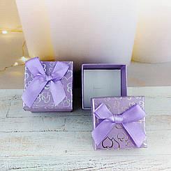 Подарочная коробочка Сердца Сиреневая
