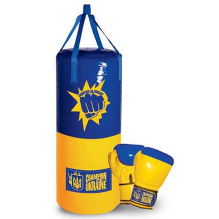 Боксерский набор груша и перчатки Украина средний размер, фото 2