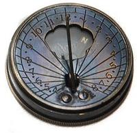 Часы солнечные с компасом (5х5х1,5 см), фото 1