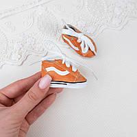 Обувь для кукол, кроссовки оранжевые с белой вставкой - 5.5*2.5 см
