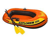 Надувная лодка Intex 58331 Explorer 200 Set, 185 х 94 х 41 см, с веслами и насосом