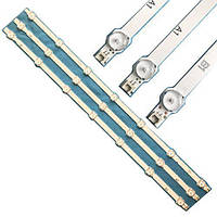 3x LED планка лампа подсветки ЖК ТВ 32 630мм LG 6916L-1437A 1438A 1426A