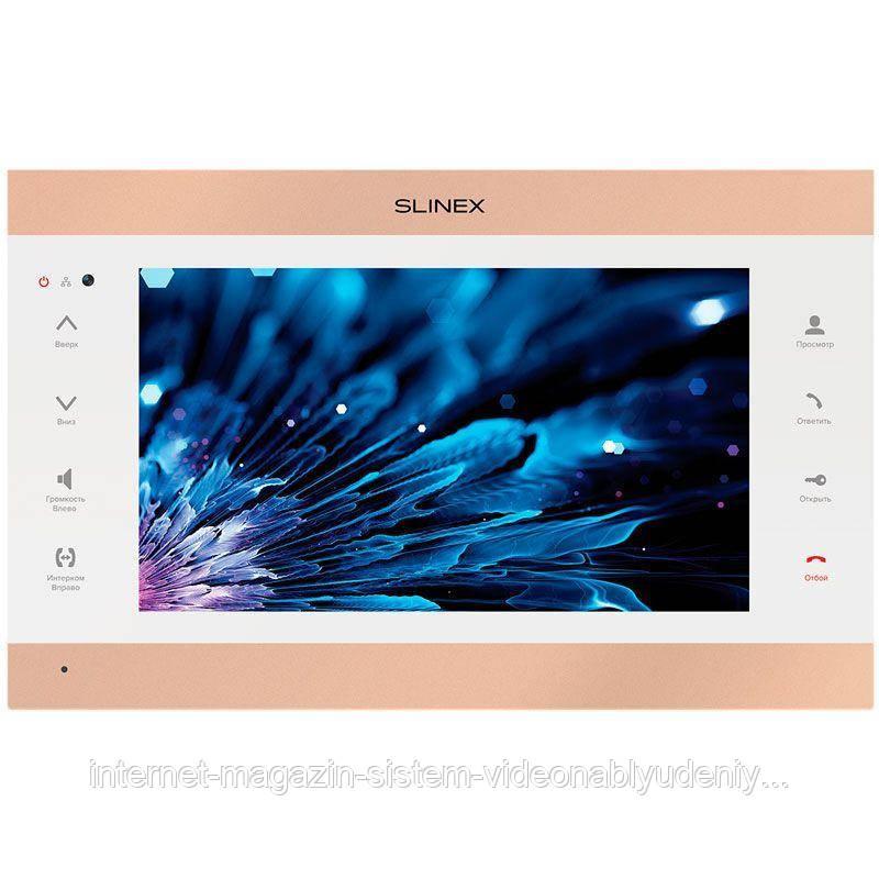 Цветной IP-видеодомофон  Slinex  SL-10IPT Белый + золото