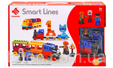 Конструктор Smart Lines Веселий поїзд 77007 20 1615