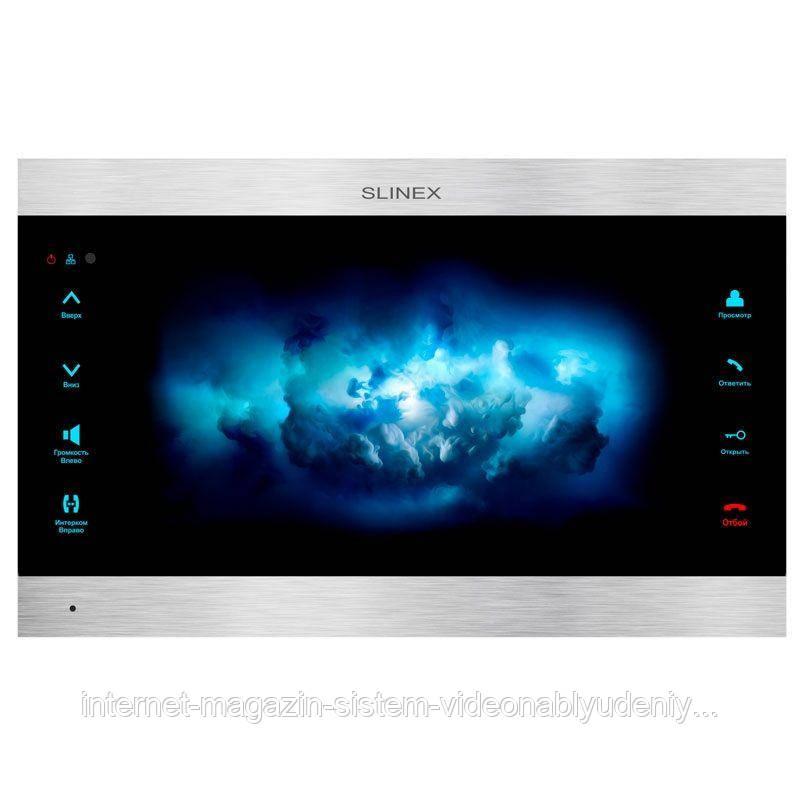 Цветной IP-видеодомофон  Slinex  SL-10IPT Черный + серебро