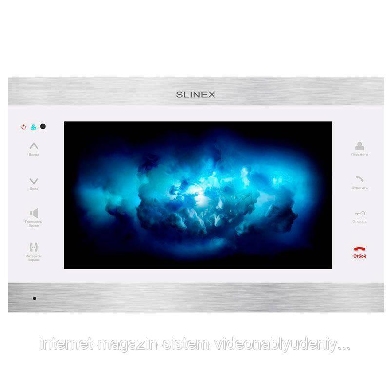 Цветной IP-видеодомофон  Slinex  SL-10IPT Белый + серебро