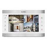Цветной IP-видеодомофон  Slinex  SL-10IPT Белый + серебро, фото 2