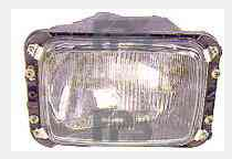 Левая фара Мерседес (207-410) h4 применяятся с 1981 года / MERCEDES 207/410 (1977-1995)