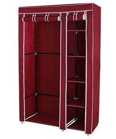 Тканевый шкаф - органайзер для вещей 105*45*175см HCX 88105 на 2 секции