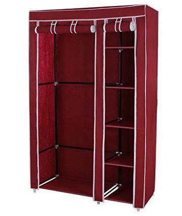 Тканевый шкаф - органайзер для вещей 105*45*175см HCX 88105 на 2 секции, фото 2