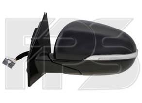 Левое зеркало Киа Соренто 15- электрический привод; с обогревом; складывающееся; под покраску; асферическое; с указ. поворота; без подсветки / KIA
