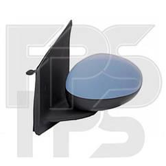Правое зеркало Пежо 107 механический привод; без обогрева; под покраску; выпуклое / PEUGEOT 107 (2005-2012)