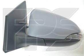 Правое зеркало Тойота Ярис электрический привод; с обогревом; под покраску; выпуклое; 7 pin с указ. поворота; без подсветки / TOYOTA YARIS (2014-)