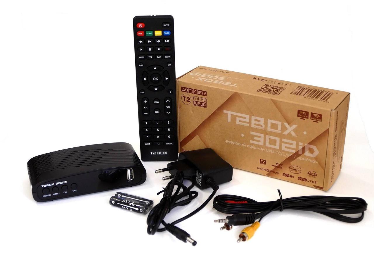 ТВ-тюнер DVB-T2 / C T2BOX 302iD, IPTV, Youtube, USB