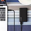 Оригінальний кабель 2 в 1 BlitzWolf BW-MT1 USB Type-C, USB-MicroUSB 1 метр швидка зарядка Black, фото 3