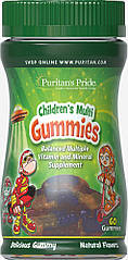Puritan's Pride children's Multivitamins and Mineral Gummies (60 шт.)