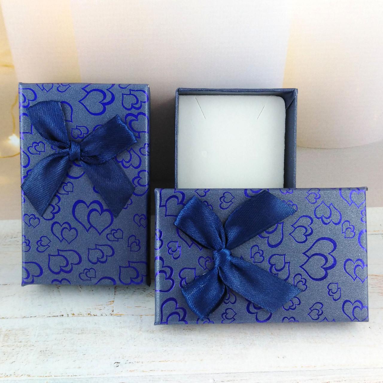"""Подарочная коробочка """"Сердца"""" Синяя"""
