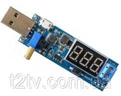 Преобразователь напряжения DC-DC 3.5-12В на 1.2-24В, USB + Вольтметр