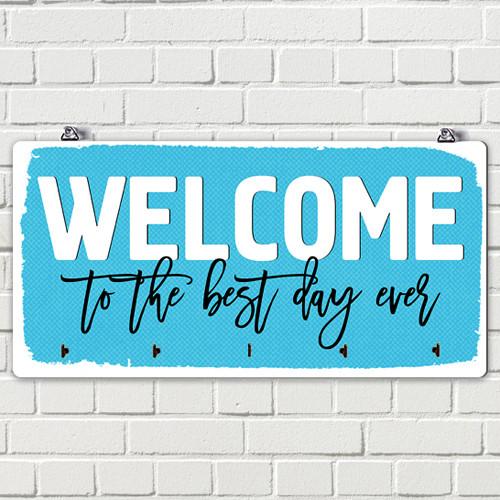 Ключница настенная Welcome to the best day ever 36х18 см (KEDM_20F001)