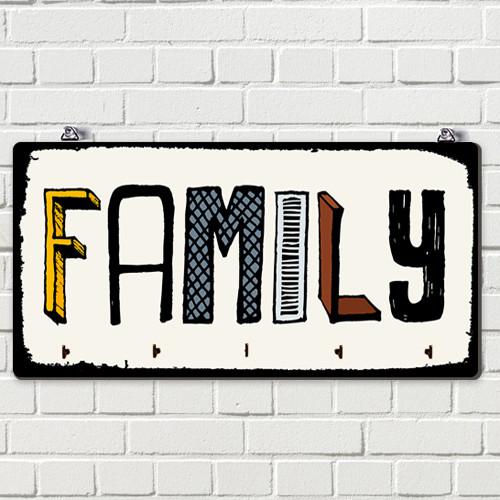 Ключница настенная Family 36х18 см (KEDM_20F002)