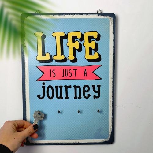 Ключница настенная Life is just a journey 25х36 см (KEDB_20F005)