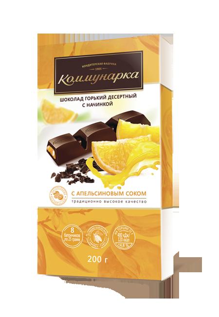 """Шоколад """"Коммунарка"""" с апельсиновым соком"""