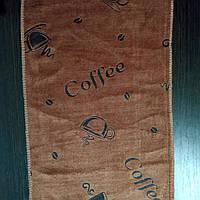 Кухонное полотенце из микрофибры 50*25 шоколадное