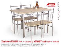 Кухонный комплект FAUST стол + 4 кресла