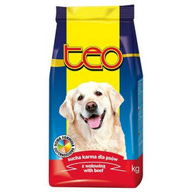 Сухой корм TEO для взрослых собак всех пород с говядиной, 9кг