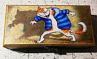 Купюрница шкатулка для денег,шкатулка,подарить деньги красиво,коты