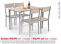Кухонный комплект RALPH стол + 4 кресла