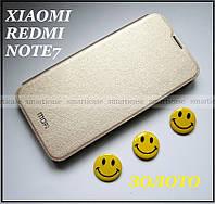 Золотой чехол книжка для женщины на Xiaomi Redmi Note 7 ( ксиоми редми Нот 7)