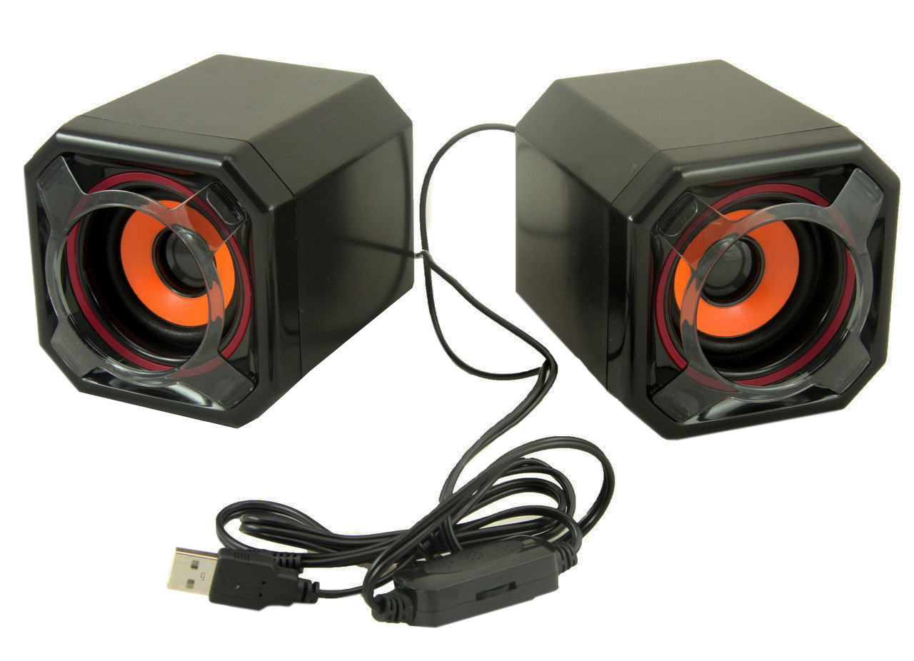 Компьютерные колонки акустика 2.0 UKC USB A8 (3718)