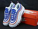Мужские кроссовки Nike Air Max 97 White Blue Red, фото 2