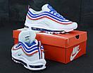 Мужские кроссовки Nike Air Max 97 White Blue Red, фото 3
