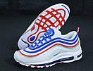 Мужские кроссовки Nike Air Max 97 White Blue Red, фото 4