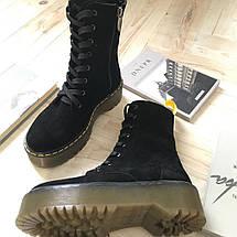 Високі жіночі демісезонні черевики на шнурівці 36-41 р, фото 2