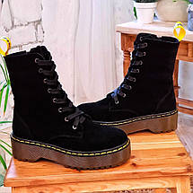 Високі жіночі демісезонні черевики на шнурівці 36-41 р, фото 3