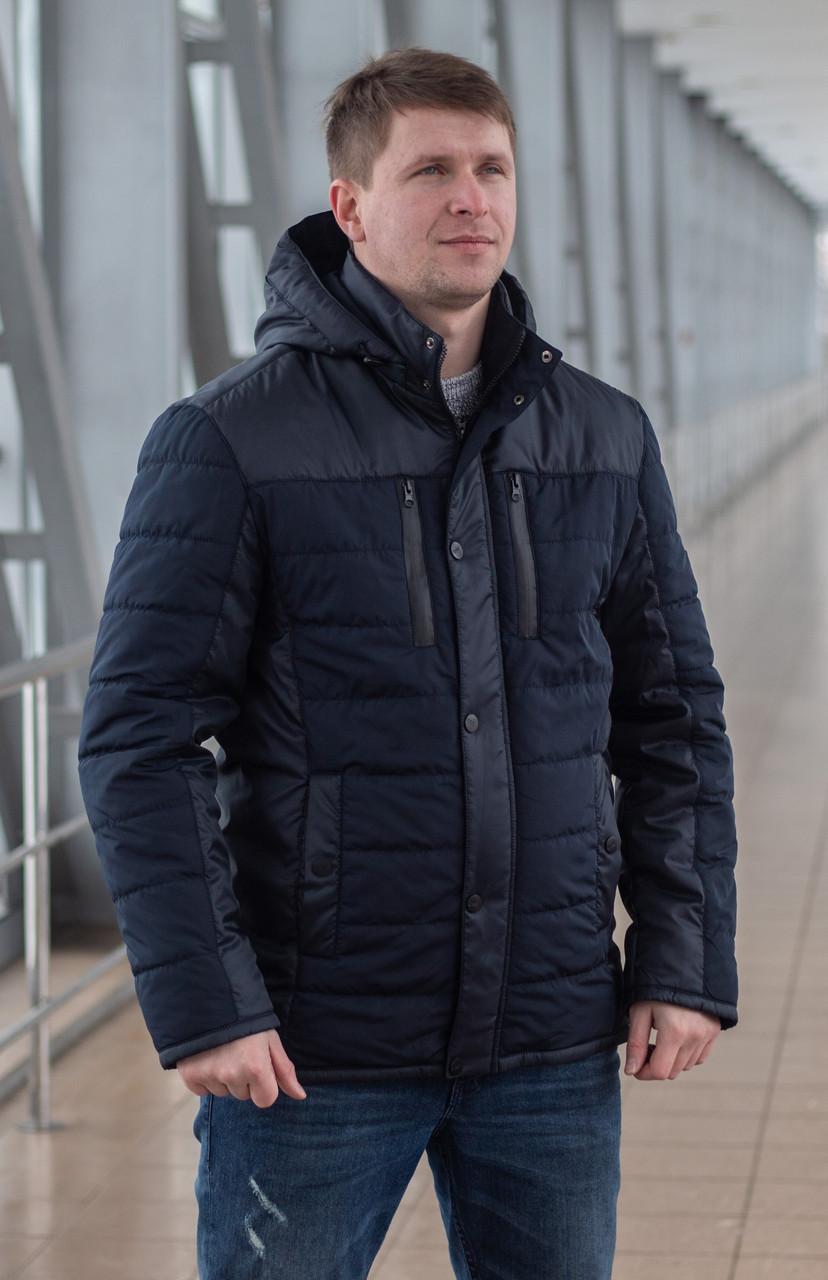 Демисезонная мужская куртка   модная    48-58 синий