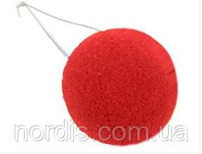 Нос клоунский поролоновый красный. Карнавальный нос.