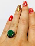 Кольцо с круглым изумрудом в серебре Ксимена, фото 2