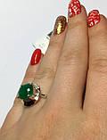 Кольцо с круглым изумрудом в серебре Ксимена, фото 3