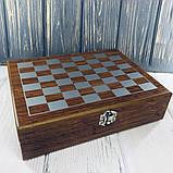 Мужской Подарочный Набор Фляга с Шахматами, фото 3